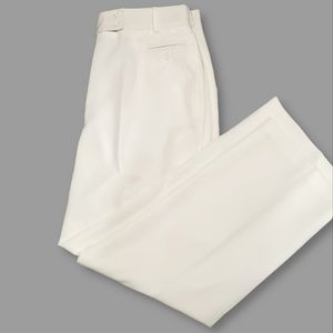 Dress Barn White Lined Dress Pants - 16 W